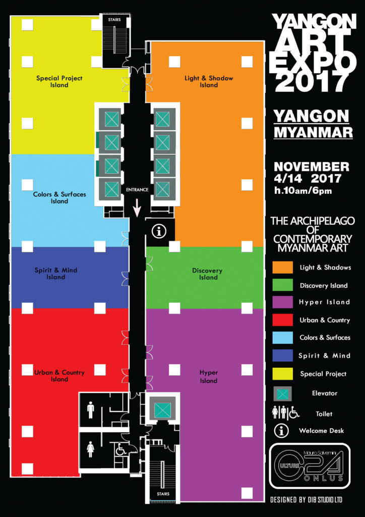 Yangon Art Expo Map DIB Studio